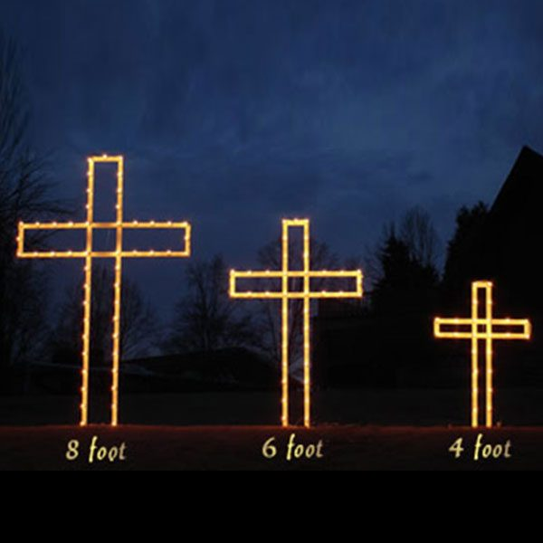 Christmas Lighted Cross